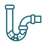 blocked pipe icon